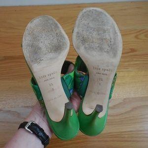kate spade Shoes - $325~KATE SPADE~Green Paisley Sandals~Heels~8/8.5